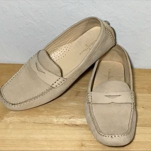 Cole Haan Leather Trillby Driver Loafers Bone Sz 8